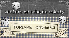 """""""Turlane opowieści"""" to gra, do której potrzeba jedynie kartki papieru, długopisu i kostki. Dobra zabawa gwarantowana! Gra składa się z tabelki, którą można wydrukować lub narysować oraz kostki do g…"""