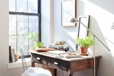 Tucker & Adam's Industrial-Modern Apartment in Brooklyn  (Image credit: Lauren Kolyn)   School supply shopping was the highlight of my childhood year, second, of course, to Christmas. Fast forward a f