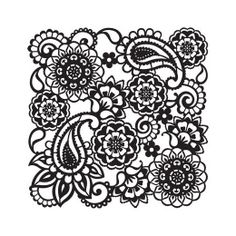 Viva Decor Background Stencil 29 x - Paisley < Craft Shop Stencil Patterns, Embroidery Patterns, Viva Decor, Paisley Stencil, Tattoo Themes, Craft Images, Paper Lace, Bullet Journal Art, Silhouette Cameo Projects