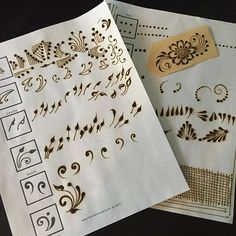 Never stop practicing! It's important for me to be on top of my game which means I always want to feel great about the basics. This practice sheet is from and I worked my to deliberately create each line. Henna Hand Designs, Mehndi Designs Feet, Indian Henna Designs, Mehndi Designs Book, Simple Arabic Mehndi Designs, Mehndi Designs For Beginners, Modern Mehndi Designs, Wedding Mehndi Designs, Mehndi Design Pictures