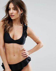 Missguided Mix & Match Frill Bikini Top
