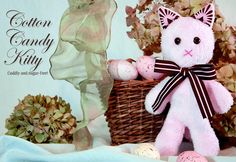 Lil Softee Pal: Cotton Candy Kitty-this isthe link to the pattern/tutorial Sewing Toys, Baby Sewing, Sewing Crafts, Sewing Projects, Diy Projects, Soft Kitty Warm Kitty, Little Kitty, Sewing Stuffed Animals, Stuffed Animal Patterns
