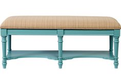 Shop for a Cindy Crawford Home Seaside Blue Green Bench at Rooms To Go. Find Accent Pieces that will look great in your home and complement the rest of your furniture.