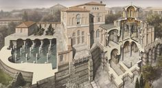 Roman/Byzantine architecture illustrations, portraits and Scenes, by Antoine Helbert