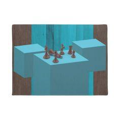 #3D Chess Pieces Digital Art Doormat - #doormats #home & #living