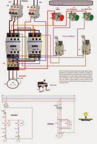 Esquemas eléctricos: Inversion de giro motor trifasico con finales de c...