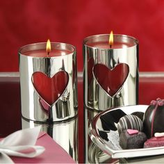 Cutout Heart Scented Candle Jar