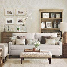 Neutral Paisley Living Room Ideal Home Housetohome