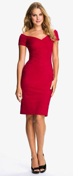 Off Shoulder Bandage Dress  http://rstyle.me/n/ebnz3pdpe