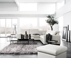 BoConcept - all white I'm dreaming of an all-white living room perhaps even minus furniture--big floor pillows, no stuff!