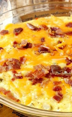 Baked Potato Bacon Egg Breakfast Skillet!!