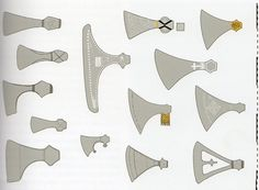 Different axes heads from the Scandinavian and Anglo-Saxons cultures, some for work and others for war.