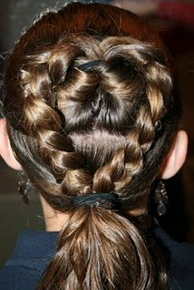 Valentine's Day- Flip Braided Heart 'do - my girls would love this