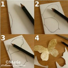 How to Make a Butterfly Template: Easy DIY Paper Craft- butterfly crafts How To Make Butterfly, Butterfly Art, Butterfly Mobile, Butterfly Baby Shower, Diy Crafts Hacks, Diy Home Crafts, Kids Crafts, Butterfly Template, Crown Template