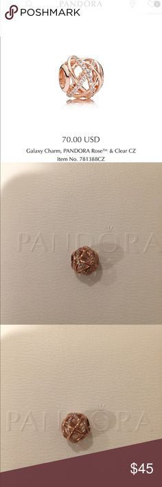 """Authentic Pandora rosegold """"Galaxy"""" Color: rose gold + Clear CZ. Used. In pristine condition. Storing in box all the time. Im just selling my personal Pandora collection. I'm NOT a Pandora vendor, I don't make any profit from selling my Pandora. Please don't low ball me. Thank you :). 🌹 Does NOT come with box Pandora Jewelry Bracelets"""
