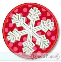 Snowflake Frame Applique - 3 Sizes! | Winter | Machine Embroidery Designs | SWAKembroidery.com Lynnie Pinnie
