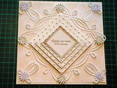 65. Cardmaking Tutorial - Anna Griffin Fretwork Celtic Die Cream Diamond...