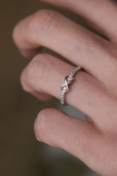 Loveeee this promise ring!  CZ Band Embraced Infinity Symbol Ring White Gold from kellinsilver.com