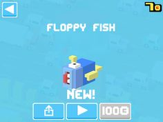 Just unlocked Floppy Fish! #crossyroad
