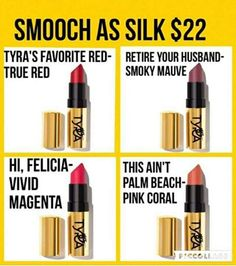 Smooch As Silk lipstick by Tyra Beauty. The longest wear you will ever have in a lipstick! order yours today. www.tyra.com/vanna4197