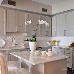 Light Taupe Kitchen Cabinets, Transitional, Kitchen