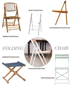 Summer is all about making room for friends and family to gather together.  Here are a few of my favorite folding chairs (and stool) to ensure we have room for everyone.