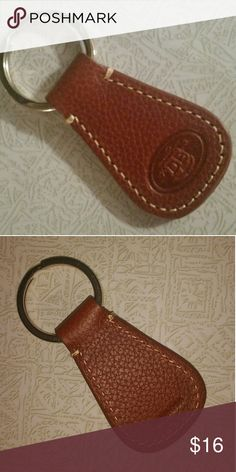 "DOONEY & BOURKE key fob Tan colored pebbled leather key fob with ""DB"" embossed. Excellent condition Dooney & Bourke Accessories Key & Card Holders"