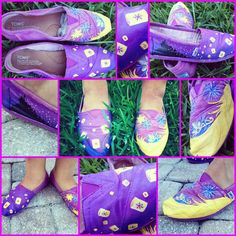 Rapunzel (from Disney-Pixar's Tangled) Custom Toms (SHOES NOT INCLUDED) on Etsy, $65.00