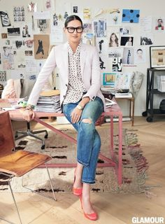 Jenna Lyons   Dream Office   Workspace   Office Space   Decor & Design   Ideas & Inspiration   Business Woman   Mom Boss   Online Fashion Styling   Personal Style Online   Fashion For Working Moms & Mompreneurs