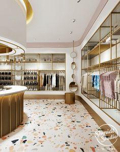 Interior Boutique Interior Boutique on Behance Retail Interior Design, Boutique Interior Design, Boutique Decor, Retail Store Design, Showroom Design, Retail Stores, Clothing Store Interior, Clothing Store Design, Fashion Shop Interior