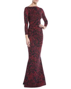 0f62542e5ab Sotera Leopard-Print Mermaid Gown Petite Robes