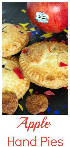 Apple brandy is the secret ingredient that brings out the sweet flavors of the apples in these mouthwatering apple hand pies. Try using Piñata® apples for a sweet yet tart version. Apple Pie Recipes, Tart Recipes, Dessert Recipes, Desserts, Fruit Hand Pies, Apple Hand Pies, Holiday Foods, Holiday Recipes, Apple Brandy