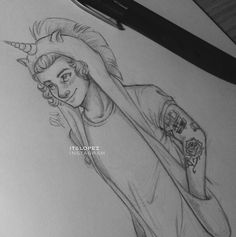 One Direction Harry Styles fan art- I LOVE this!!