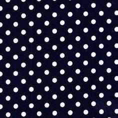 Michael Miller House Designer - Dots - Dumb Dot in Navy Fabric
