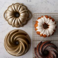 Nordic Ware Small Heritage and Anniversary Bundt Pan  Perfect size when baking for 2.  Set #williamssonoma