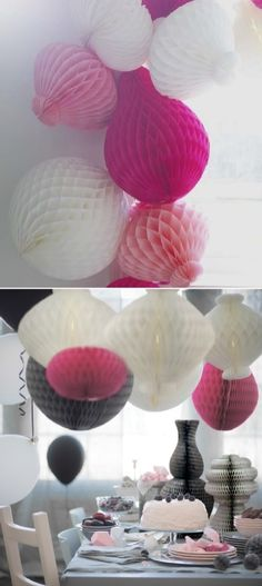 Easy-to-hang and budget friendly, bunches of VISIONÄR paper decorations make a grand statement.