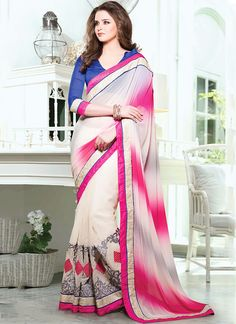 Cracking Multi Color Georgette Saree