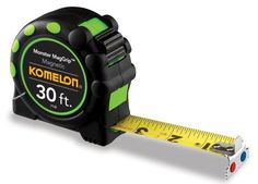 Komelon 7130 Monster MagGrip 30-Feet Measuring Tape with Magnetic End - http://www.henryspowertools.com/shop-2/komelon-7130-monster-maggrip-30-feet-measuring-tape-with-magnetic-end/