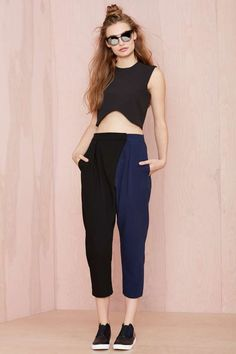 Nasty Gal Split Personality Trouser