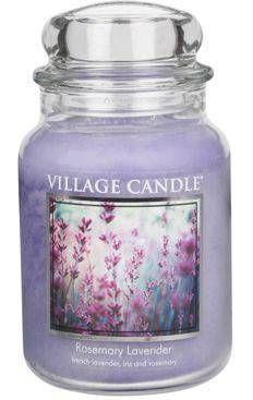 Duża  świeca Village Candle Rosemary Lavender