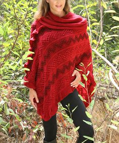 Another great find on #zulily! Red Chevron Poncho #zulilyfinds