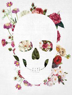 Skull-grunge-flower-2