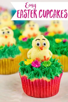 These Easy Easter Cupcakes taste so sweet and are the perfect size for dessert or a special treat.