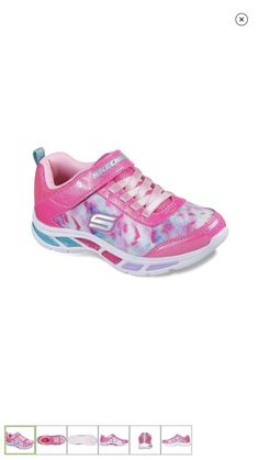 5ec63690d295 NIB Girls Skechers Light Beams Dance  amp  Glo Light Up Tennis Shoes Sz 12