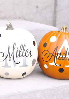 Why mess with carving a pumpkin when you can easily apply one of these personalized decals.