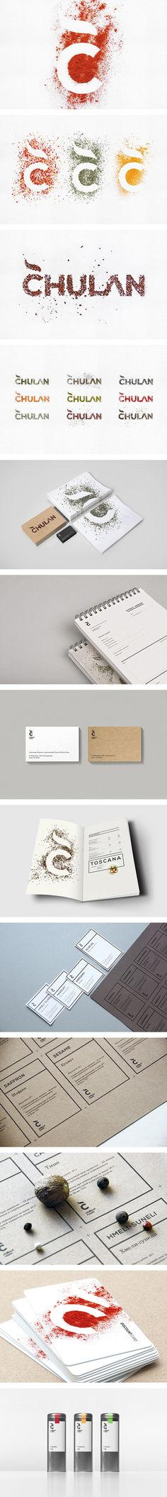 Chulan branding by Loyalty Creative Technology - there is something so creative about this lettering and branding that makes it eye-catching.