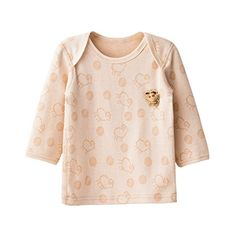 Yoyosoudou Unisex Baby Organic Cotton Long Sleeve Shirt with Lap Shoulder Tees 1824 Months Light Coffee Style2 *** You can find out more details at the link of the image.Note:It is affiliate link to Amazon.