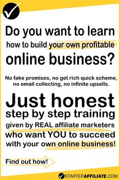 Are you tired of fake promises? Let REAL affiliate marketers teach you how to build your own money making website.