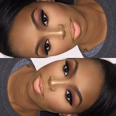 #houstonmua #houstonmakeupartist #makeup #brownsmokeyeye #highlightandcontour #mac #nyxmattelipstick
