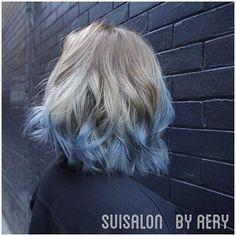 #blue_hair    ashbrown blue ombre.